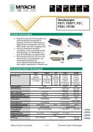 Technical Data Sheet - Miyachi Europe