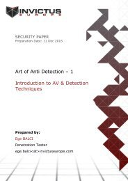 Art of Anti Detection – 1 Introduction to AV & Detection Techniques