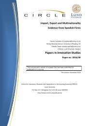 Papers in Innovation Studies