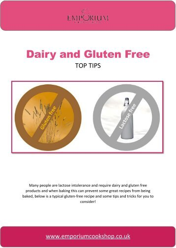 Dairy and Gluten Free Top Tips