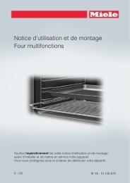 Miele H 2661-1 BP - Mode d'emploi et instructions de montage