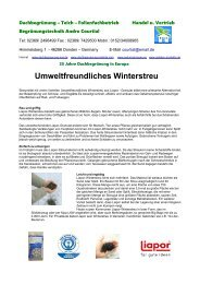 Umweltfreundliches Winterstreu