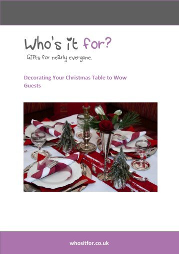 Decorating Your Christmas Table to Wow Guests