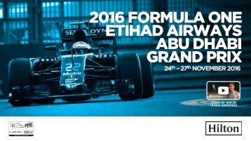 2016 Abu Dhabi GP Activation Summary Final
