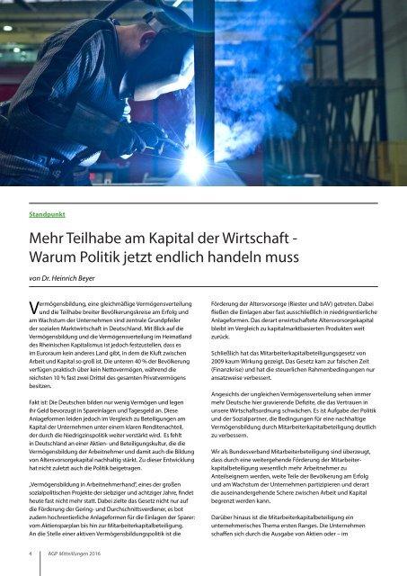 AGP Mitteilungen 2016