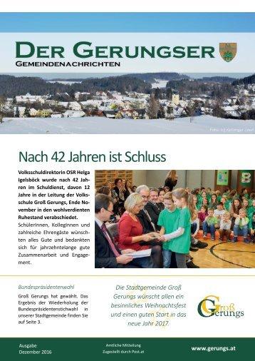 Der Gerungser - Dezember 2016