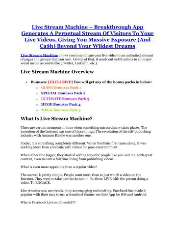 Live Stream Machine review pro-$15900 bonuses (free)