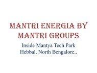 MANTRI ENERGIA BY MANTRI GROUPS