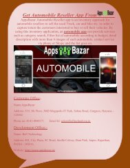 Get Automobile App From AppsBazar