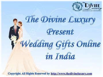 Send Unique Wedding Gifts Online in India Get Best Wedding Gifts ...