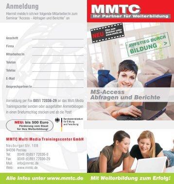 MS-Access - Abfragen und Berichte - MMTC