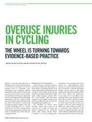 OVERUSE INJURIES IN CYCLING