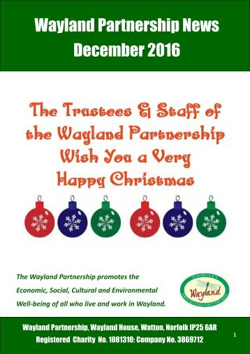 Wayland Partnership News December 2016