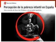 Percepción de la pobreza infantil en España