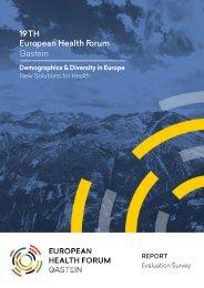 19TH European Health Forum Gastein