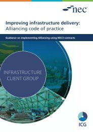 Improving infrastructure delivery Alliancing code of practice