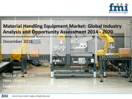Material Handling Equipment Market Growth, Forecast and Value Chain 2014-2020