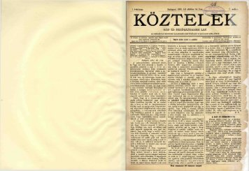 Köztelek 1. évf. 1. sz. (1891. szeptember 30.) - EPA