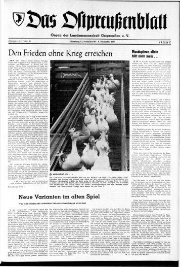 Folge 49 vom 09.12.1967 - Archiv Preussische Allgemeine Zeitung