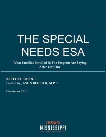 THE SPECIAL NEEDS ESA