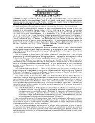 PODER EJECUTIVO SECRETARIA DE SALUD