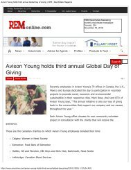 Avison Young holds third annual Global Day of Giving