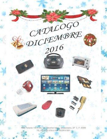 CATALOGO DICIEMBRE 2016