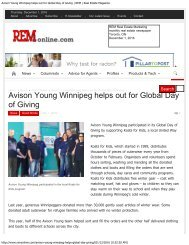 Avison Young Winnipeg helps out for Global Day of Giving