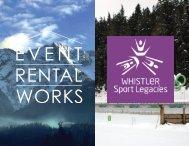 Whistler sport legacies and Event Rental Works