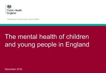 and young people in England