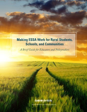 Making ESSA Work for Rural Students Schools and Communities