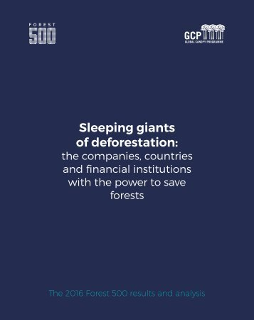 Sleeping giants of deforestation