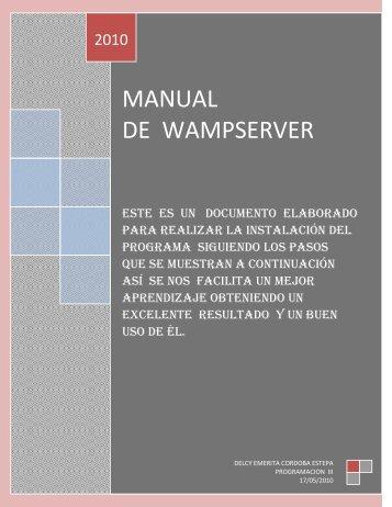 manual como utilizar wamp Martin L. Carlos O.