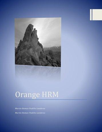 Orange HRM Charly y martin