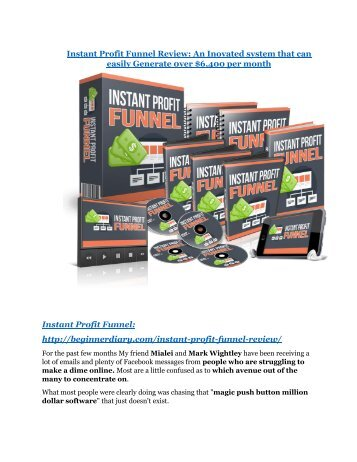 Instant Profit Funnel review - Instant Profit Funnel sneak peek features