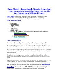 Exact Model Review and $30000 Bonus - Exact Model 80% DISCOUNT