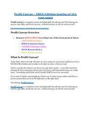 Profit Canvas Review-(FREE) $32,000 Bonus & Discount