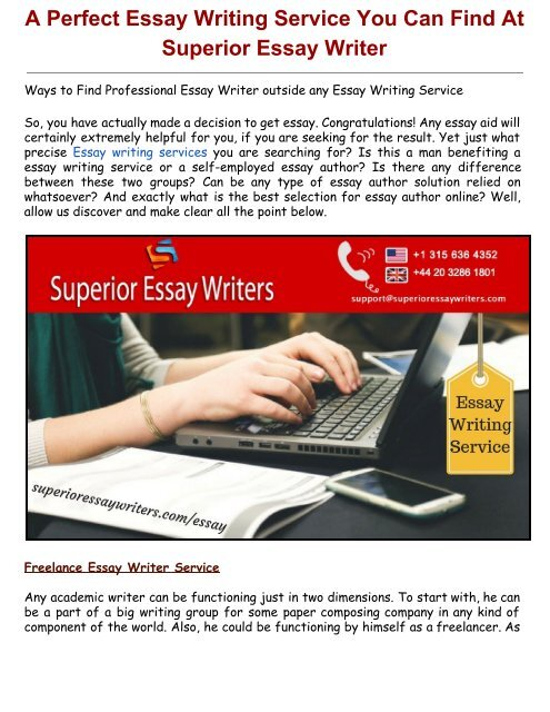 A Perfect Essay Writing SeA Perfect Essay Writing Service