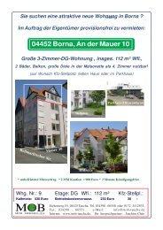 04452 Borna, An der Mauer 10 Große 3-Zimmer-DG ... - MOB Taucha