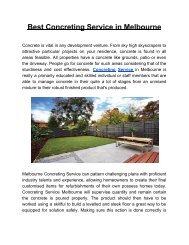 Concreting Service Melbourne