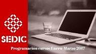 Programación cursos Enero-Marzo 2017