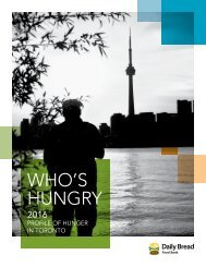 Who's Hungry: 2016 Profile of Hunger in Toronto