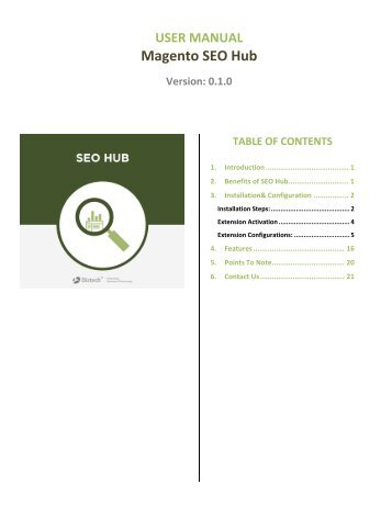 SEO Hub Extension : A complete on page solution for Magento