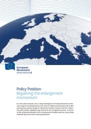 Policy Position Regaining the enlargement momentum