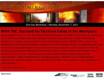 One Day Workshops - Western NC Safety and Health Conference