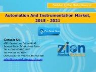 Automation And Instrumentation Market, 2015 - 2021