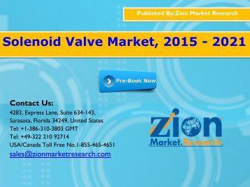 Solenoid Valve Market, 2015 - 2021