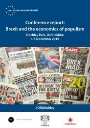 Conference report Brexit and the economics of populism