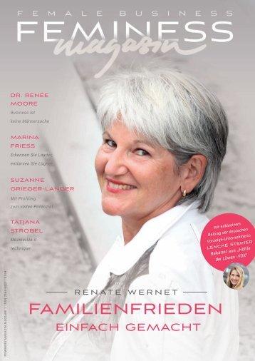 """Feminess Magazin - jetzt geht es los! Premierenausgabe - mit Exklusiv-Beitrag von Lencke Steiner """"Höhle der Löwen - VOX"""""""