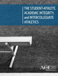 THE STUDENT-ATHLETE ACADEMIC INTEGRITY and INTERCOLLEGIATE ATHLETICS